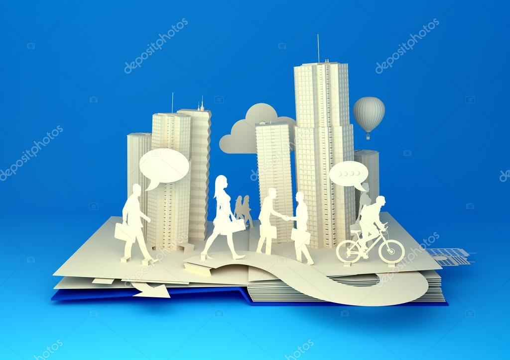 Pop-Up Book - Busy City Life