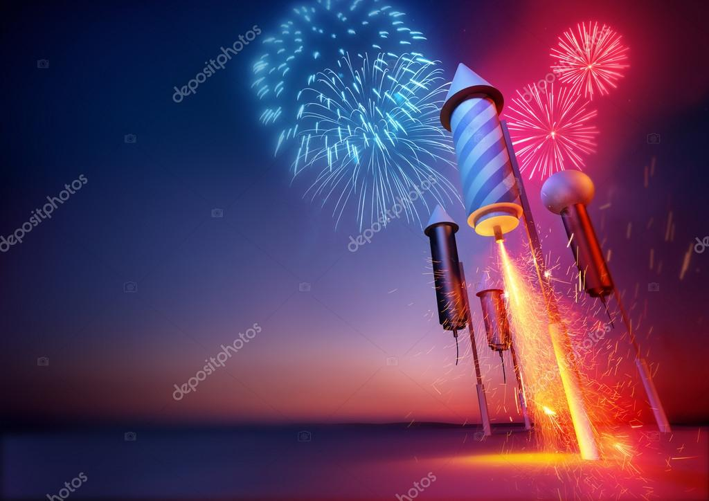 Fyrverkeri raketer firandet — Stockfotografi © solarseven  87680116 1052147e2941c