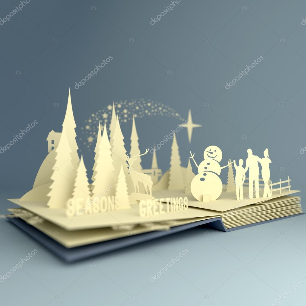 Pop Up Book Christmas Story Stock Photo C Solarseven