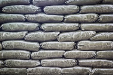 Pattern of sand bags