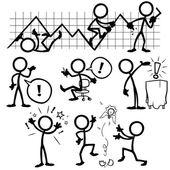 Set von Stick-Figuren, Geschäftsideen