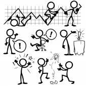 Fotografie Set von Stick-Figuren, Geschäftsideen