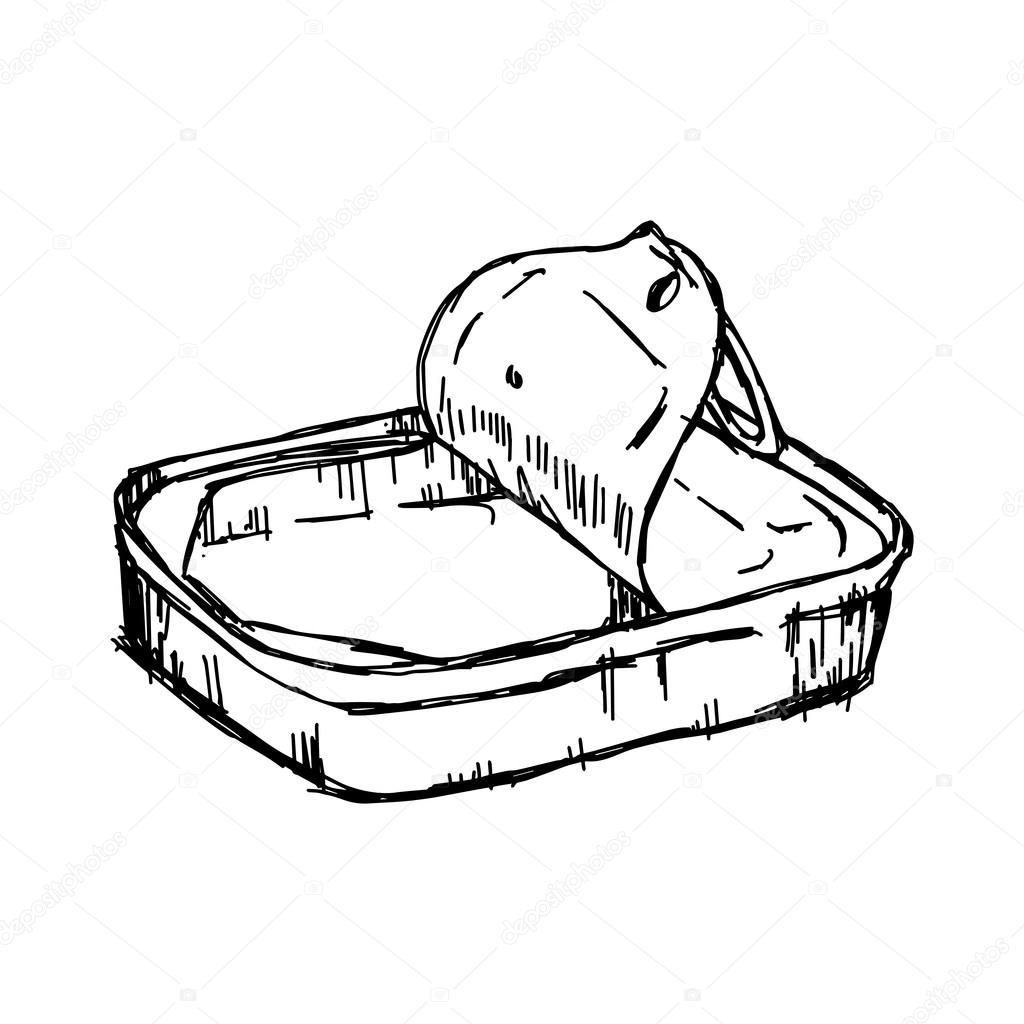 Illustration vectorielle part dessiner griffonnages de - Acheter boite de conserve vide ...