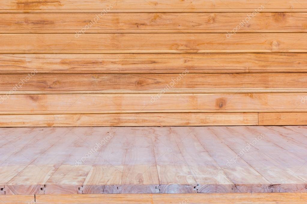 Gebruikte Houten Vloer : Houten vloer en muur gebruikt voor achtergrond u stockfoto