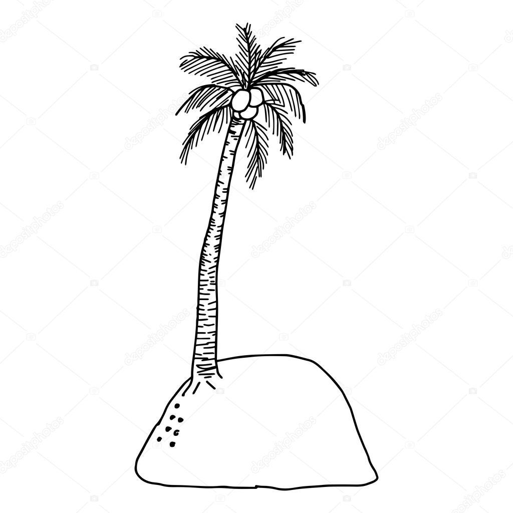 illustratie vector tekenen doodles prive eiland