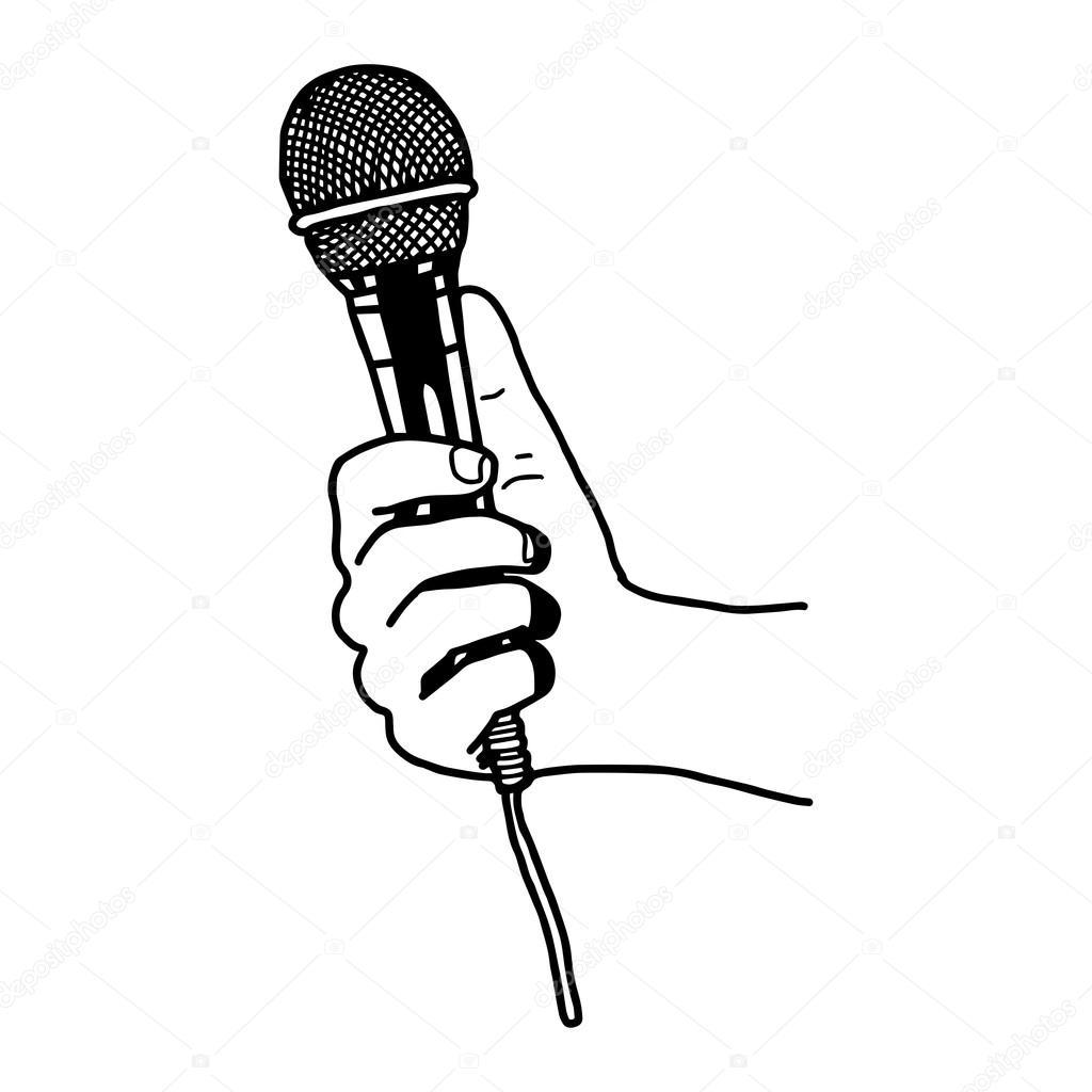 Dibujos Microfono Dibujo Doodle De Vector Ilustración