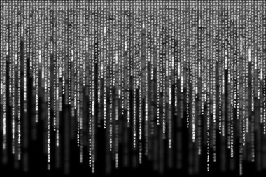 White matrix background computer generated