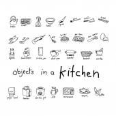 Fotografie doodles of object in kitchen