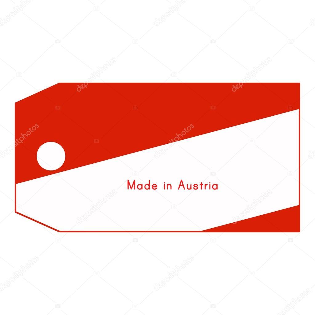 österreich Fahne Auf Dem Preisschild Mit Wort Made In österreich