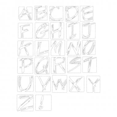 Vector illustration black polka dot spotted alphabet uppercase l