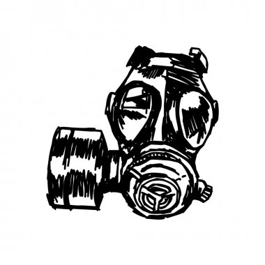 illustation vector sketch Gas mask