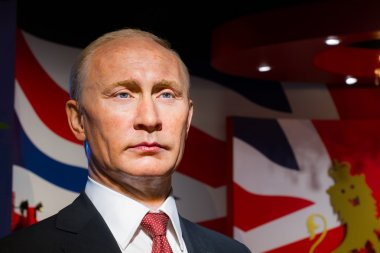 Wax figure of the famous Vladimir Putin