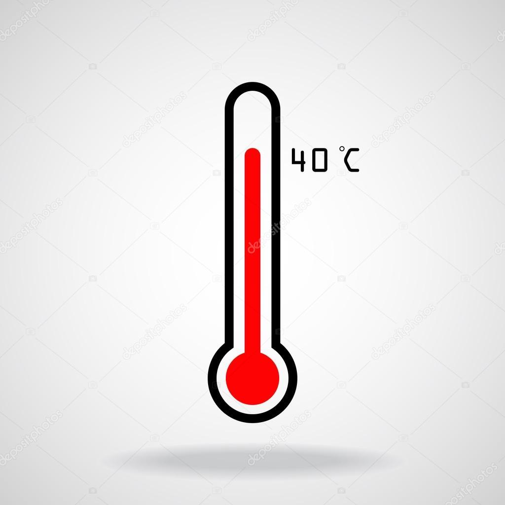 Thermometer Icon On White Background Vector Illustration Stock Vector C Vladystock 115706460 Subito a casa e in tutta sicurezza con ebay! https depositphotos com 115706460 stock illustration thermometer icon on white background html