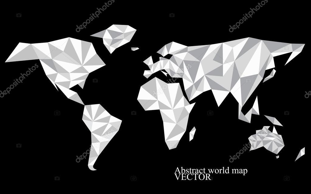 Fondo de mapa mundo abstracto estilo poligonal ilustracin de fondo de mapa mundo abstracto estilo poligonal ilustracin de vector colorido 10 eps gumiabroncs Choice Image