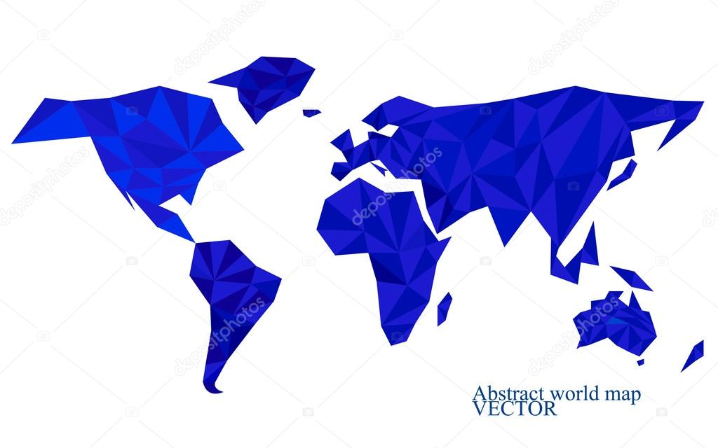 Abstract world map background in polygonal style colorful vector abstract world map background in polygonal style colorful vector illustration eps 10 stock gumiabroncs Choice Image