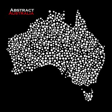 Abstract map of Australia. Vector illustration. Eps 10