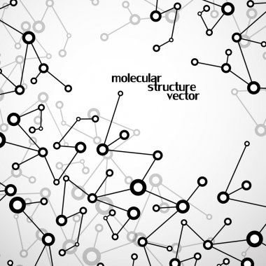 Molecule structure. DNA. Abstract background. Vector illustration. Eps10