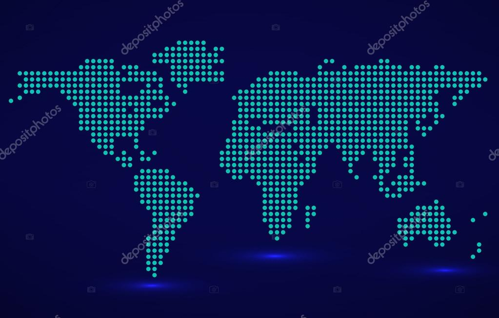 Abstract world map of round dots vector illustration eps 10 abstract world map of round dots vector illustration eps 10 stock vector publicscrutiny Gallery