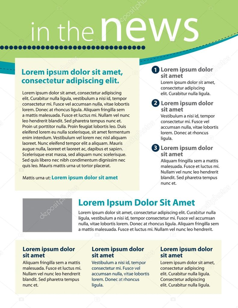 newsletter template layout stock vector rmackayphoto 54329055