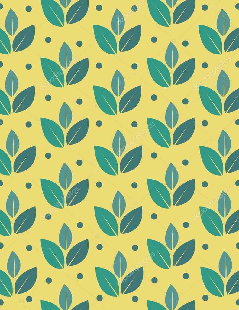 Green leaf repeating pattern — Stock Vector © rmackayphoto ...