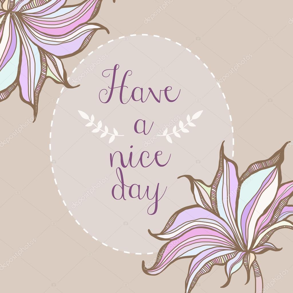 Tienen un diseño de cartel día agradable marco pastel floral ...