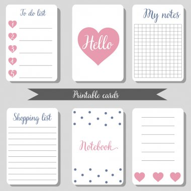 Printable cute design cards