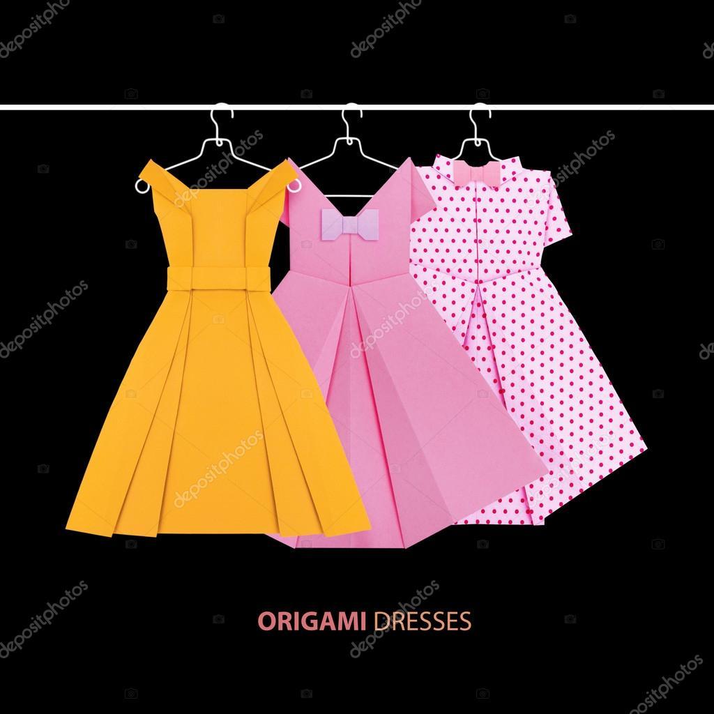 Origami Paper Dresses Stock Photo Mandrixta 114335118