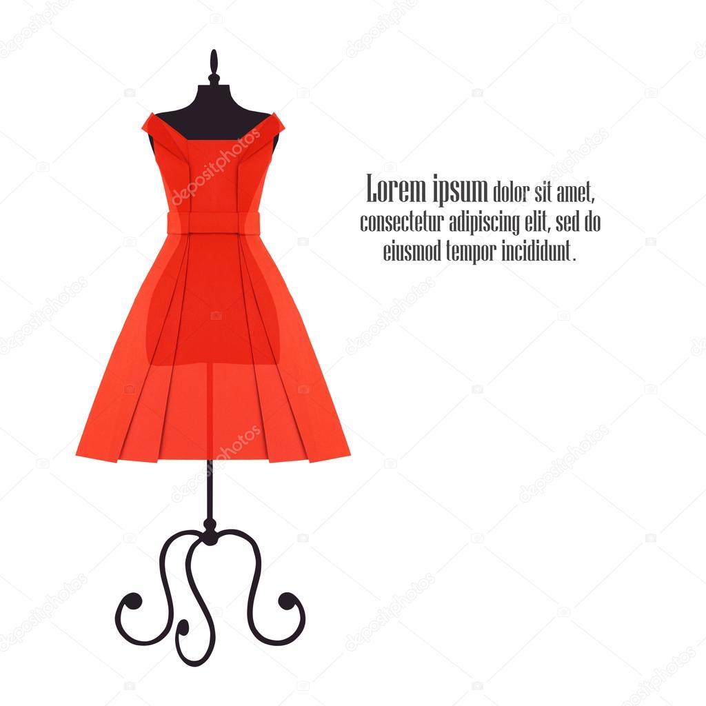 5e6214e7f664 Origami κόκκινο φορέματα — Φωτογραφία Αρχείου © mandrixta  114338428