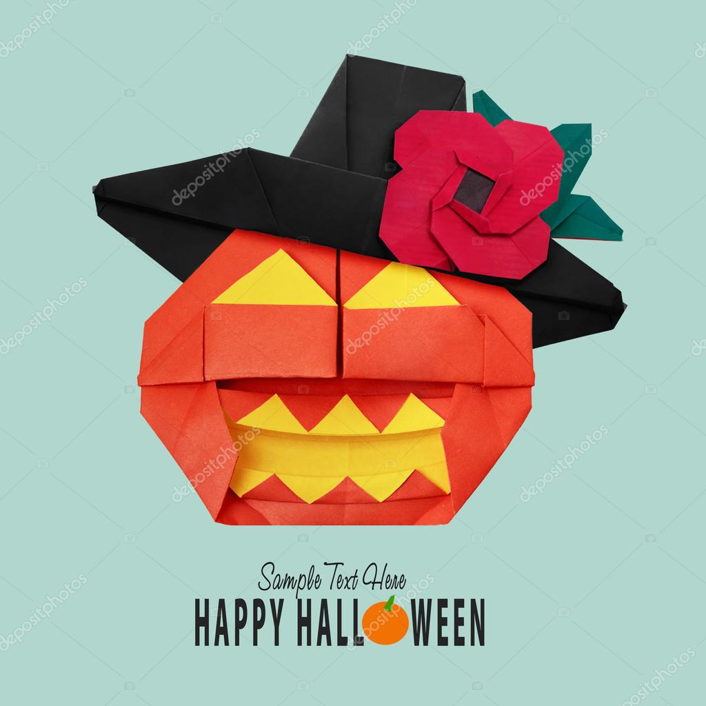 Halloween origami pumpkin stock photo mandrixta 124473232 halloween origami pumpkin stock photo jeuxipadfo Gallery
