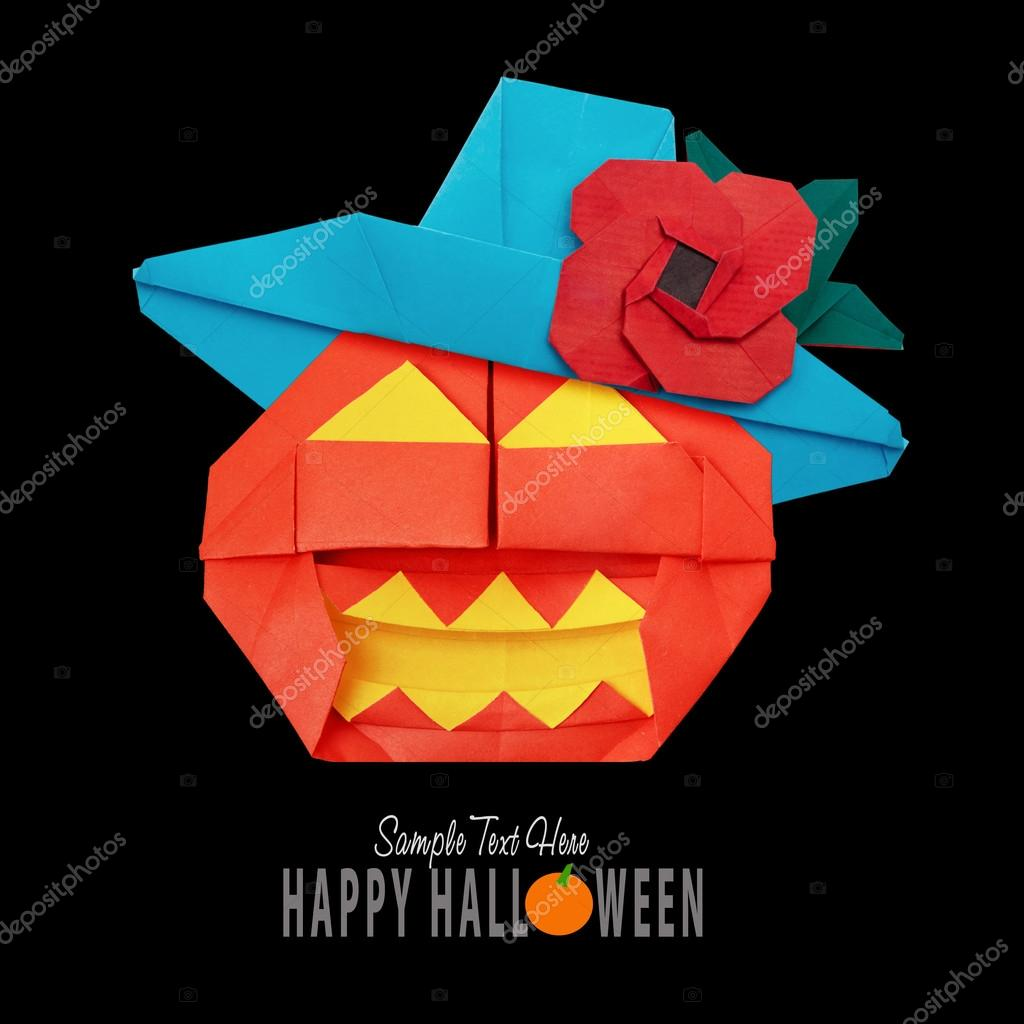 Halloween origami pumpkin stock photo mandrixta 124475906 halloween origami pumpkin stock photo jeuxipadfo Gallery