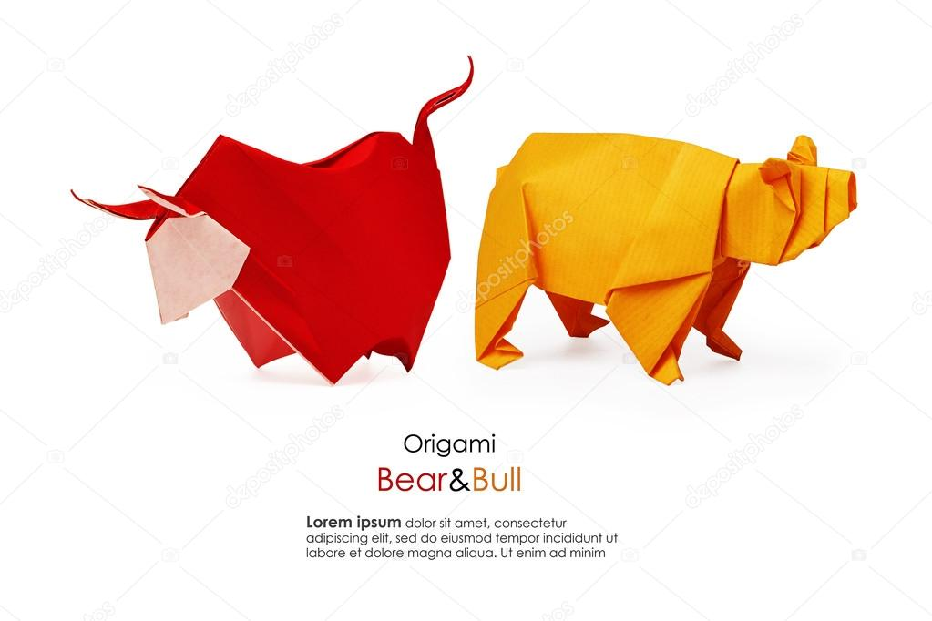 Origami diagram of the bull | 682x1023