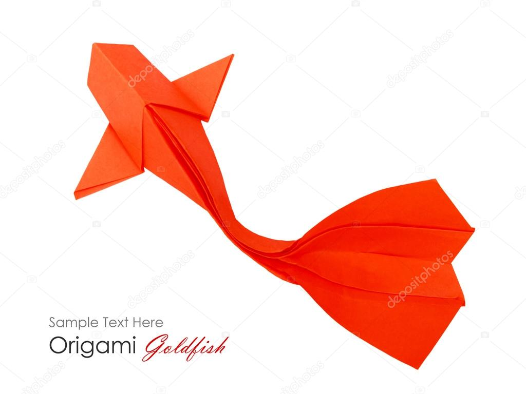 Origami Paper Fish Stock Photo