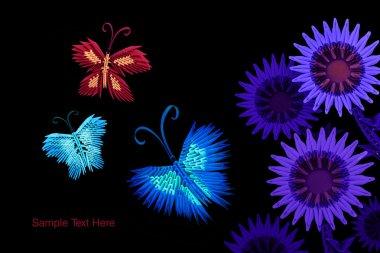 Origami butterflies group