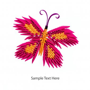 Origami  pink butterfly