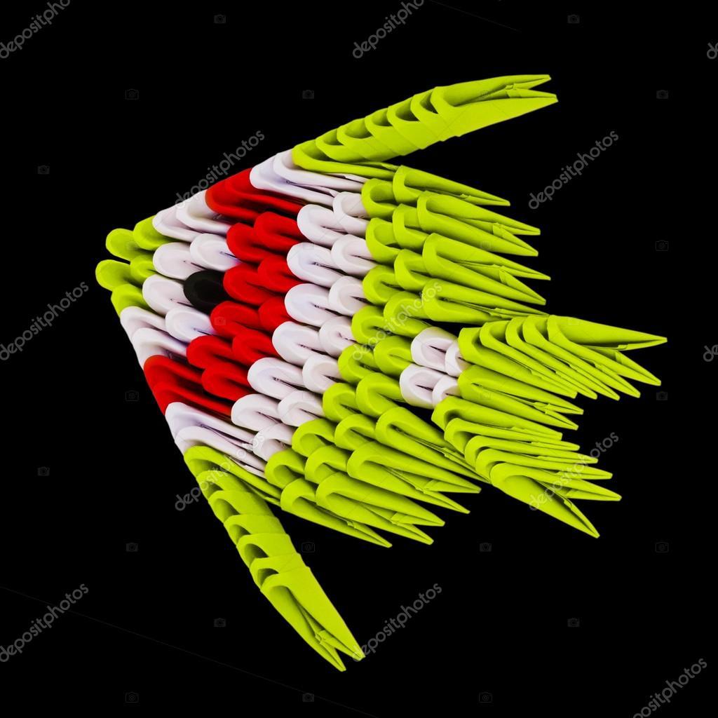 Origami tropical fish