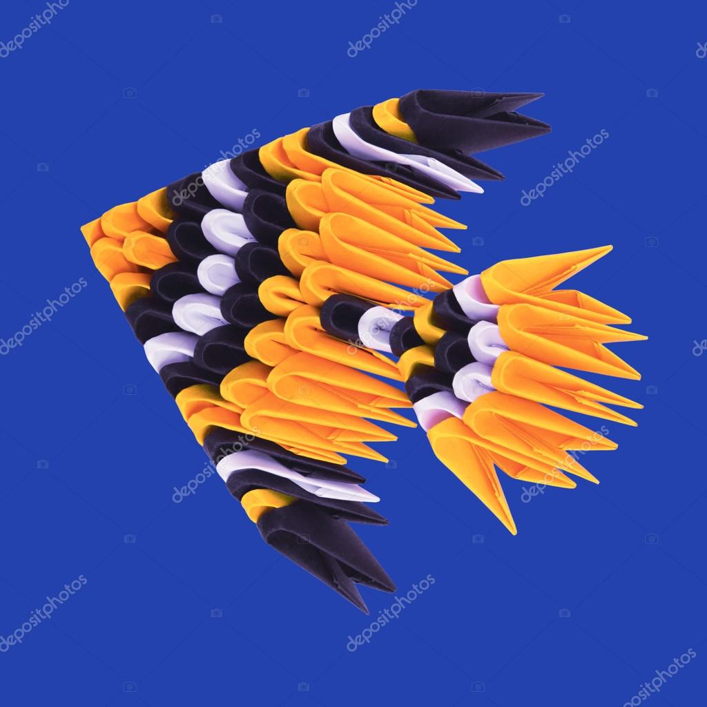 Origami tropical fish stock photo mandrixta 99789460 origami tropical fish stock photo jeuxipadfo Images