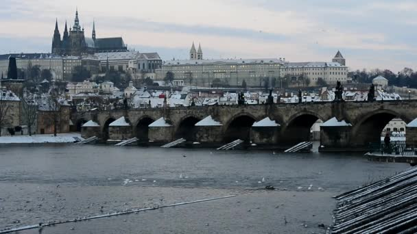 Prague castle in winter