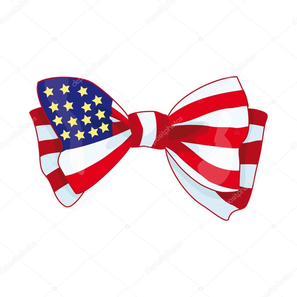 bow with usa flag stock vector irska no 108293848 rh depositphotos com Bow Tie Outline Bow Tie SVG