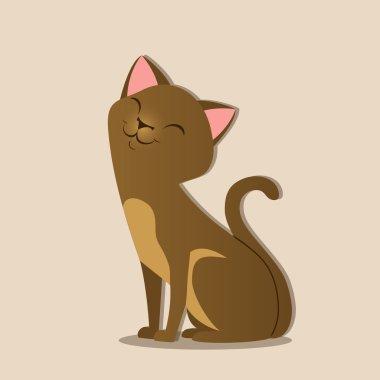 smiling cat illustration