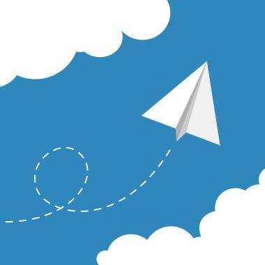 paper plane illustration.