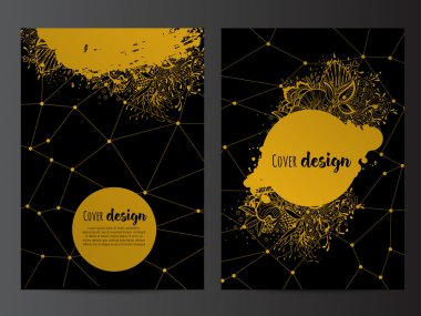 flyer with abstract background