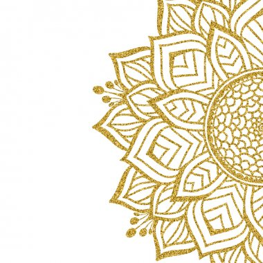 Beautiful gold Mandala element