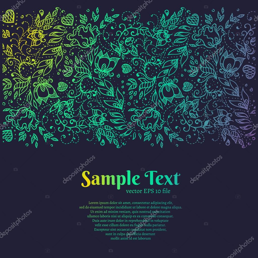 beautiful background with a floral pattern