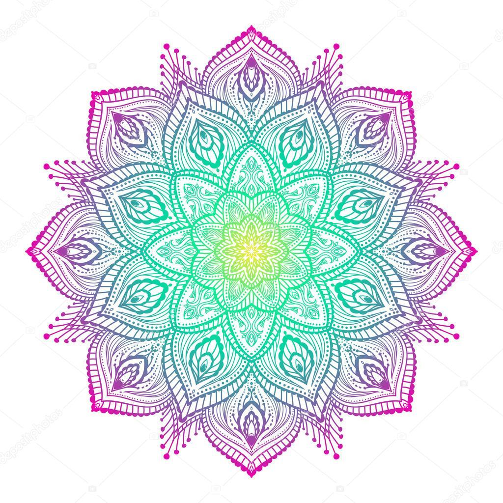 Beautiful Mandala Element Stock Vector Irskano 122694644