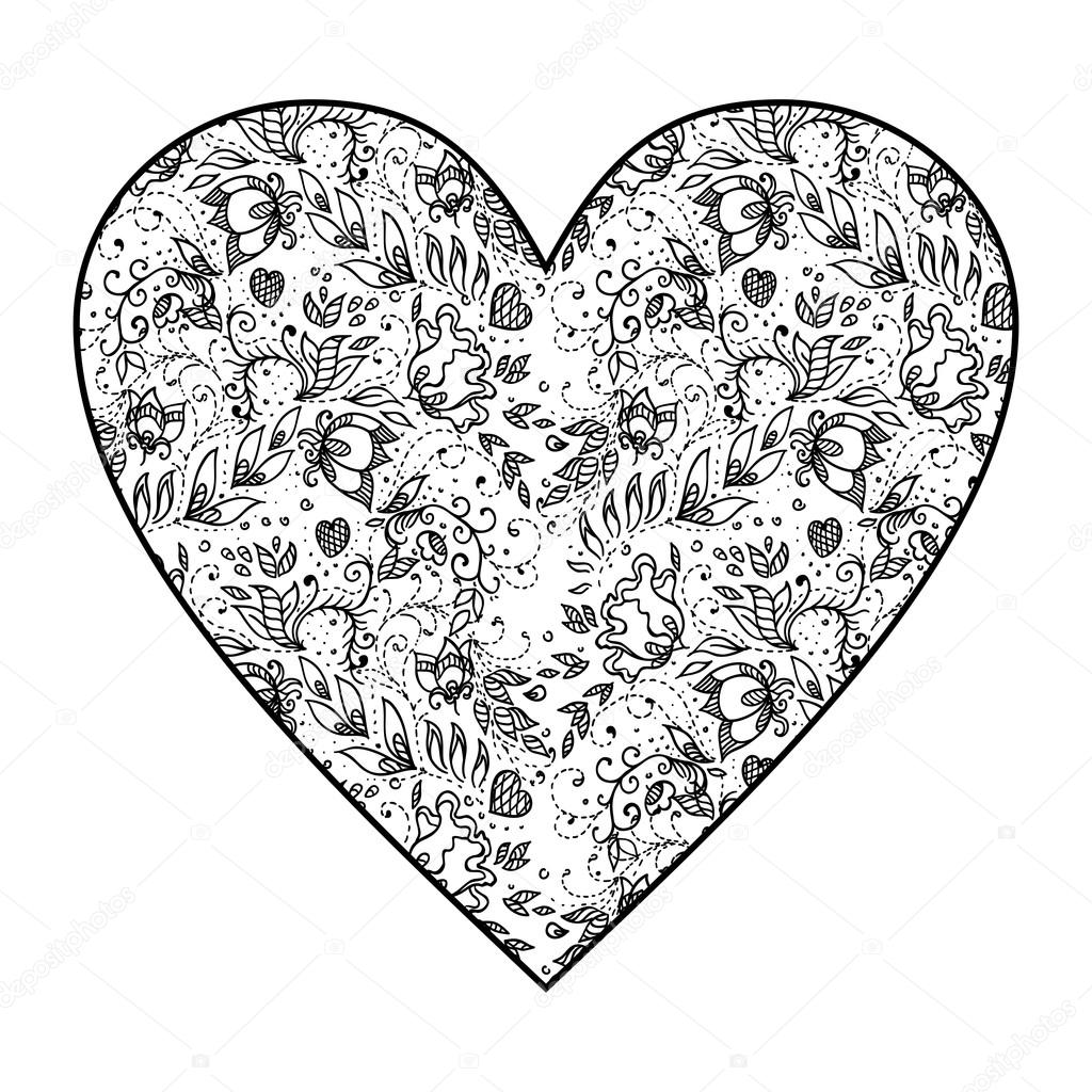 hart met mandala patroon stockvector 169 irska no 122695116