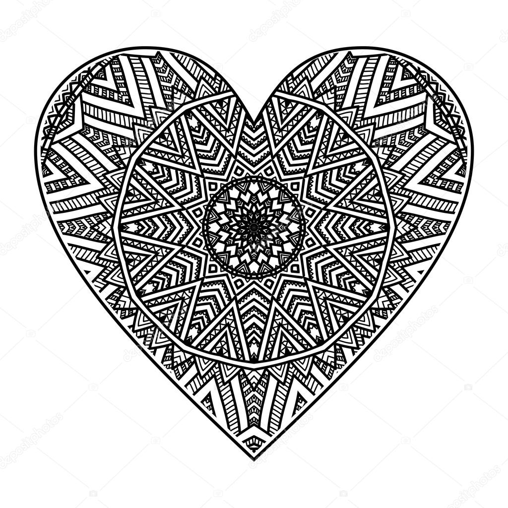 Imágenes Mandalas De Corazon Corazón Con Diseño De Mandala