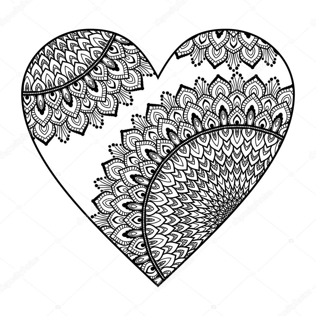 hart met mandala patroon stockvector 169 irska no 122698248