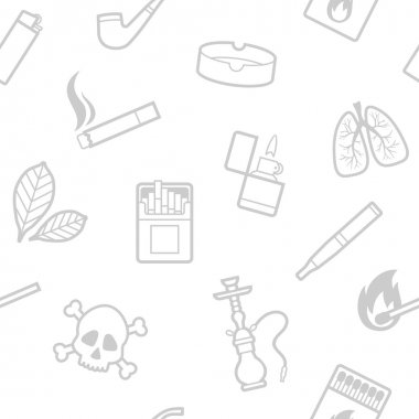 Seamless pattern of smoking vector elements