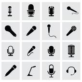 Photo Vector microphone icon set