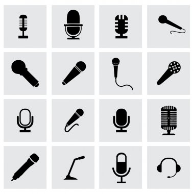 Vector microphone icon set
